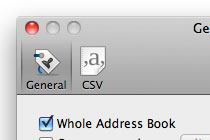 Address Book Preferences